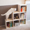 キャットウォークへと続く階段式本棚を製作しました